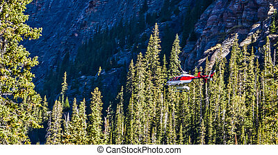 Helicopter in the Backcountry