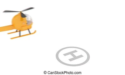 helicopter landing animation for use in presentations,...