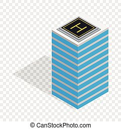 Helicopter landing pad isometric icon