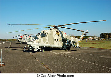 Helicopter Mi-24 - Russian Military Helicopter Mi-24 Hind