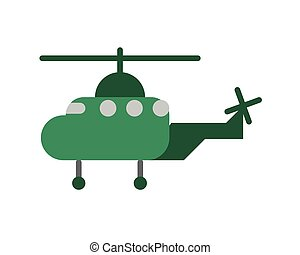 helicopter military force isolated icon
