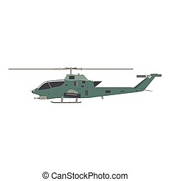 Helicopter military vector war illustration transport army air silhouette vehicle icon isolated