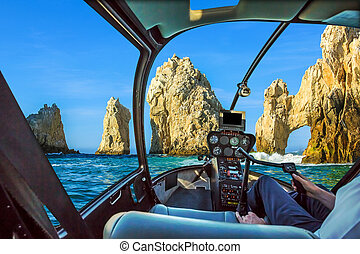 Helicopter on Cabo San Lucas