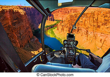Helicopter on Grand Canyon