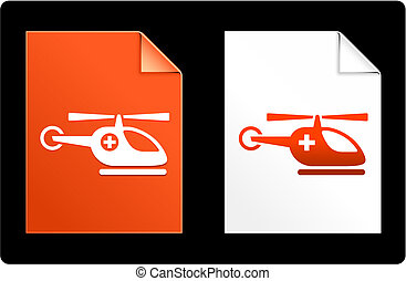 Helicopter on Paper Set