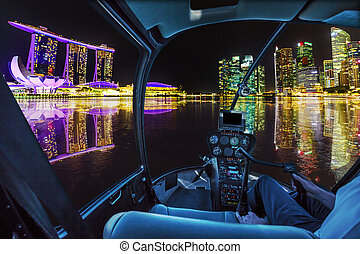 Helicopter on Singapore