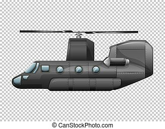 Helicopter on transparent background