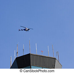 Helicopter Over control Towre