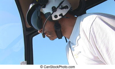 pilot - helicopter pilot speaks during a flight