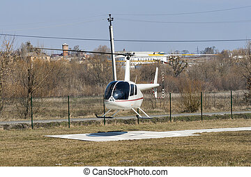 Helicopter R44 Robinson Raven 1 flying