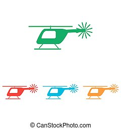 Helicopter sign. Colorfull set
