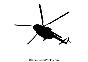 helicopter silhouette on a white background