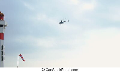 Helicopter taking off