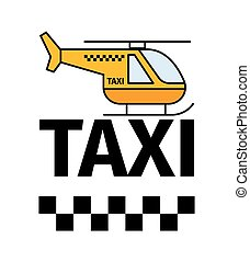 Helicopter taxi transport poster - Helicopter taxi...