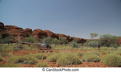 Helicopter trip to Outback Australia, NT - Wide low-angle...