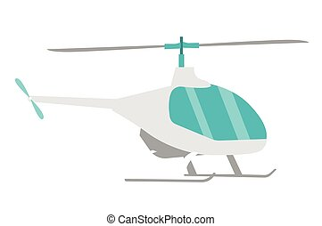 Helicopter vector cartoon illustration.