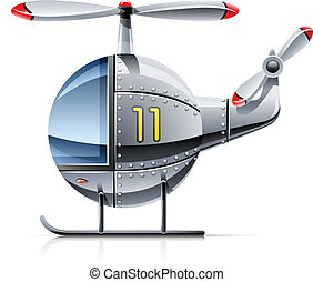 helicopter vector illustration isolated on white background