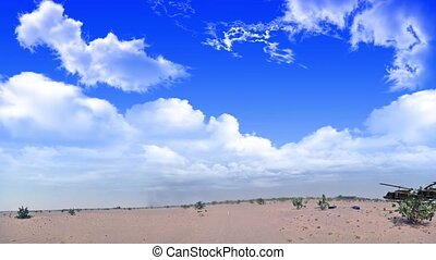 helicopters Over the desert