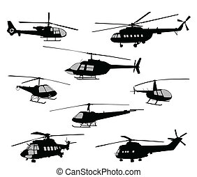 helicopters silhouettes
