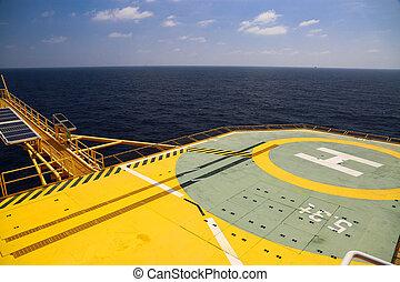 helideck, gas, perforar aceite
