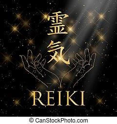 helig, geometry., reiki, symbol.