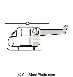 helikopter, ambulans, ikon