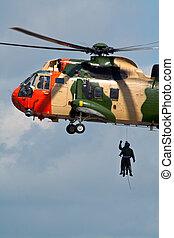 helikopter, kiszabadítás