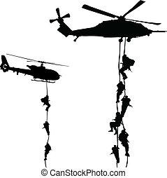 helikopter, lądowanie