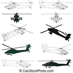 helikopter, militair