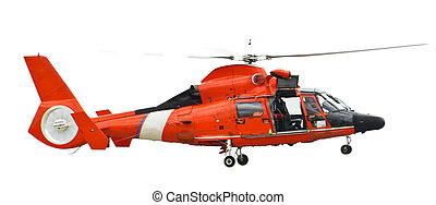 helikopter, redding