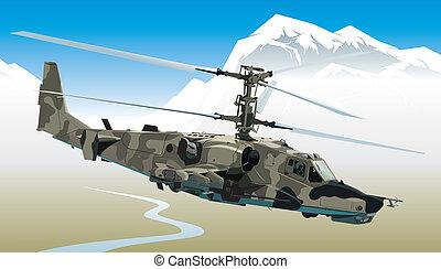 helikopter, támad