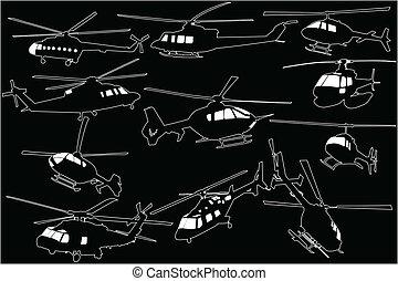 helikopterek, ábra