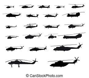 helikoptrar, värld