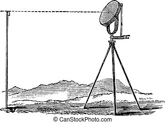 Heliograph vintage engraving