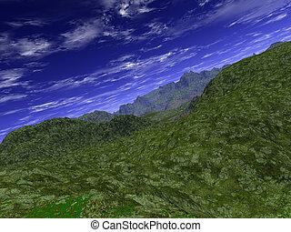 3D rendered Scifi Scenery.