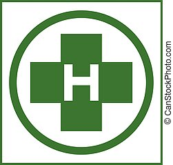 Helipad in green color