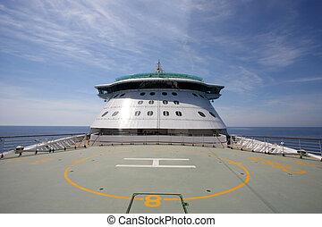 Helipad on a cruiseship