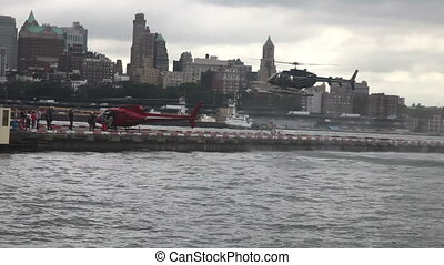 Heliport downtown New York