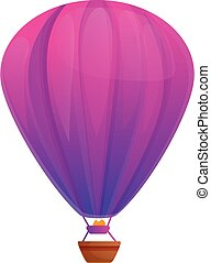 Helium air balloon icon, cartoon style