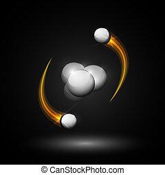Helium atom - Abstract image of helium atom. Eps 10