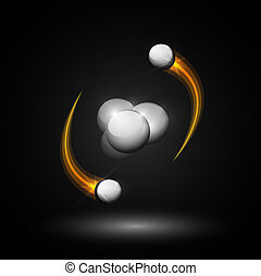 helium, atom