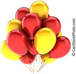 Helium balloons birthday decoration