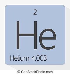 Helium - Vector illustration of the symbol of helium