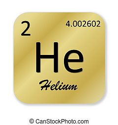 Helium element - Black helium element into golden square...