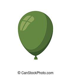 helium green balloon isolated icon