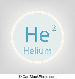 Periodic table element helium icon periodic table element eps helium he chemical element icon urtaz Image collections