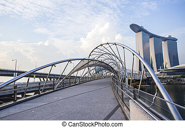 Helix Bridge. Singapore