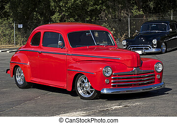 hell, 1947, rotes , coupe