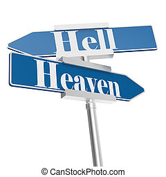 Hell and heaven signs