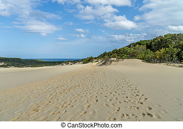 hell, australia, wüste, fraser, sandstrand, meer, insel